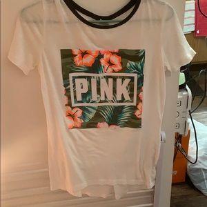 Love pink short sleeve shirt
